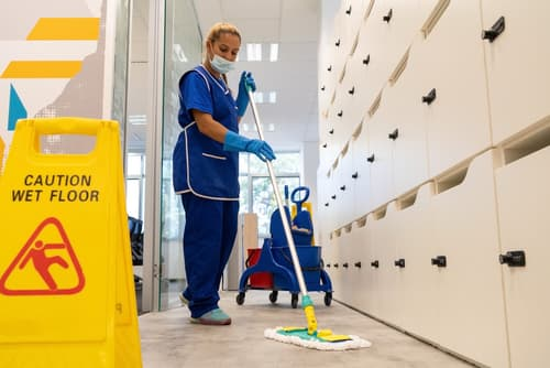 What is included in janitorial services