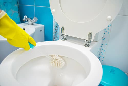 How often should office bathrooms be cleaned